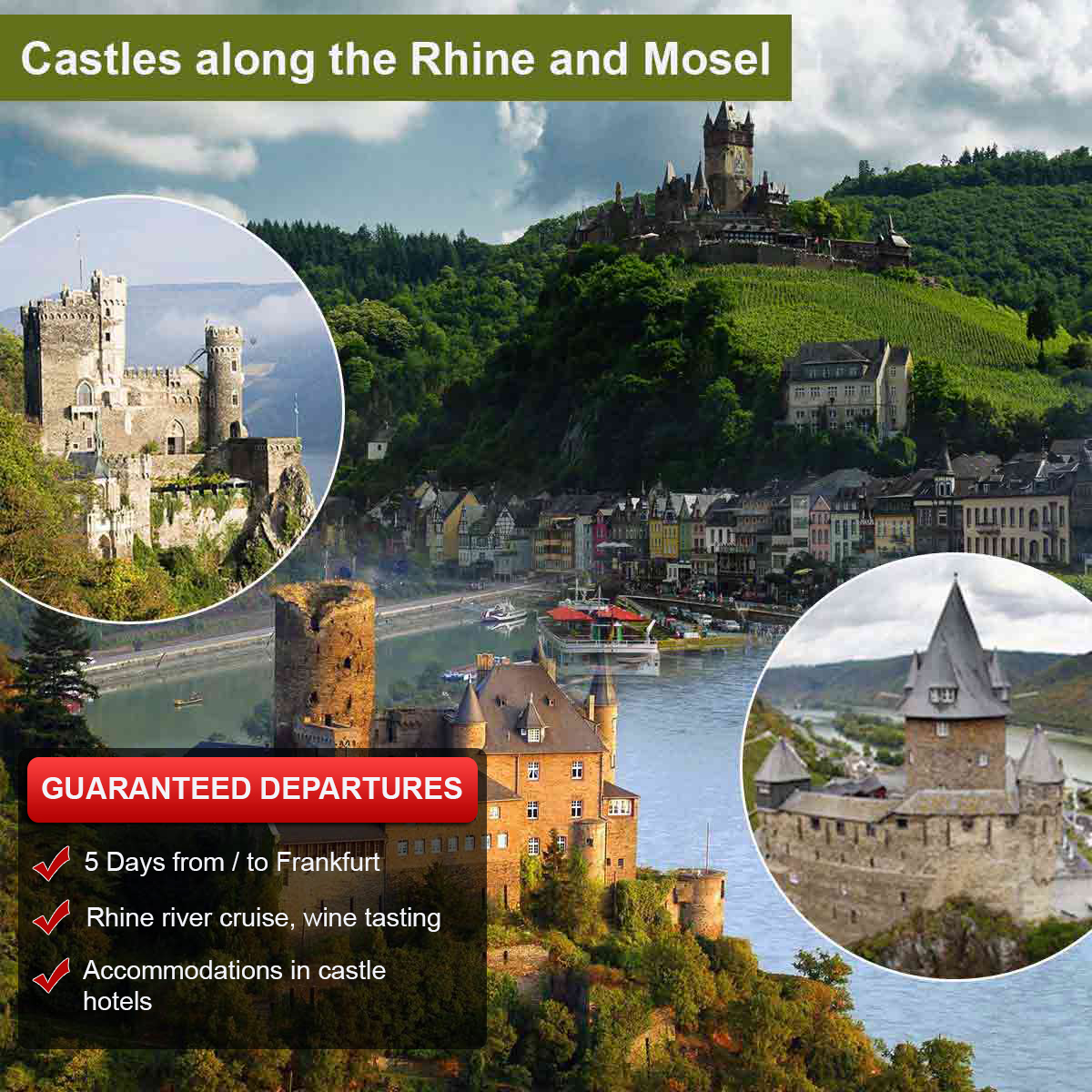 Castles along the Rhine and Moselle