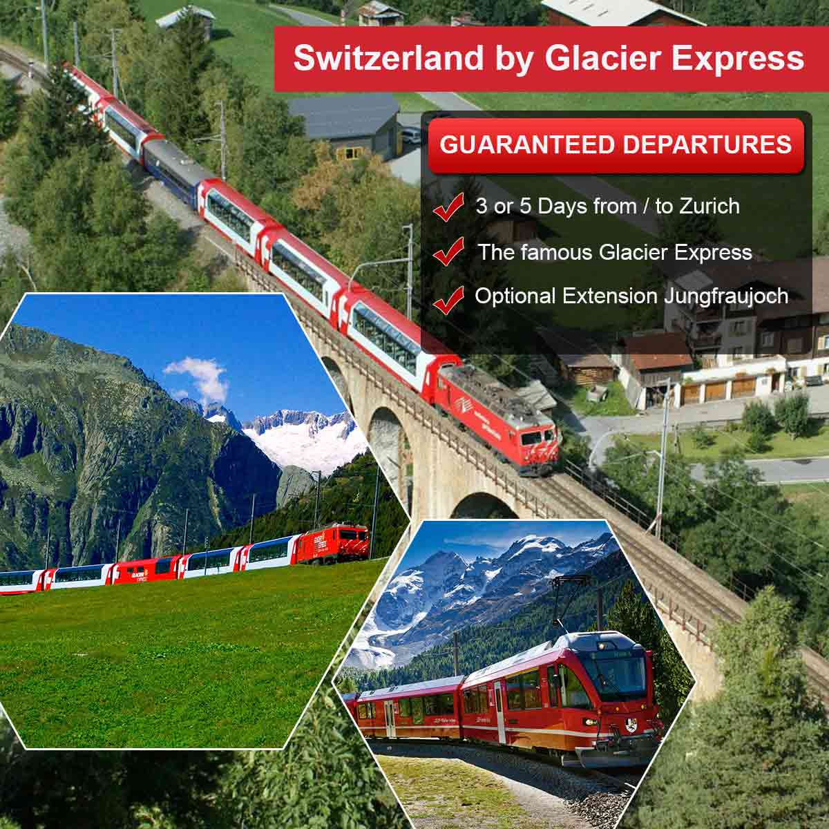 Switzerland by Glacier Express