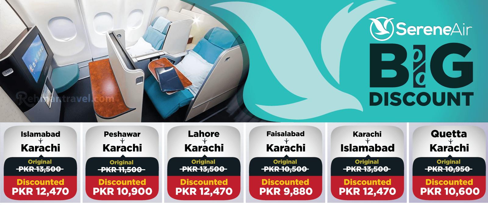 Serene air   Serene airline ticket price   Cheap air tickets